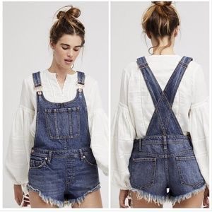Free People Summer Babe Harvey overall denim 26